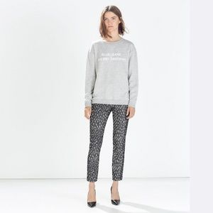 ZARA Jacquard Patterned Trousers